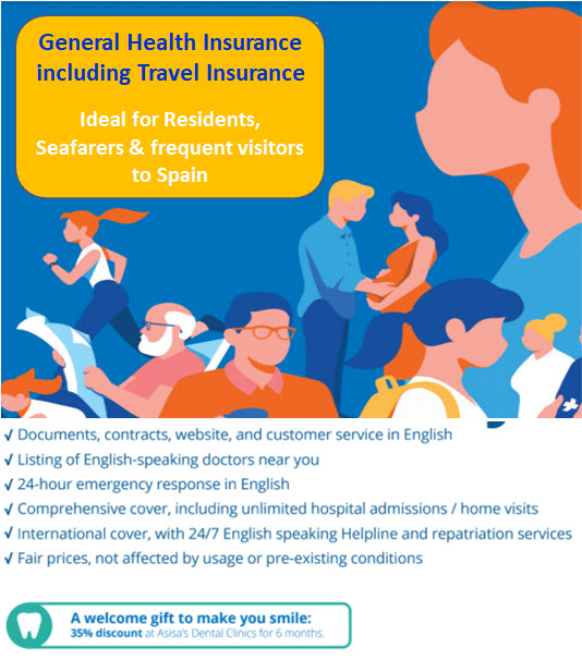 General Health and Travel Insurance in Spain